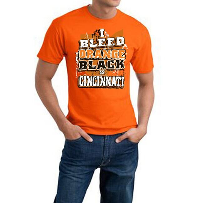 Cincinnati Football 'I Bleed Orange & Black' Orange Tee