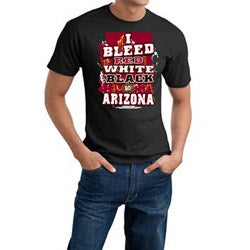 Men's Arizona Cardinals Football 'I Bleed Red, White & Black' Cotton Tee