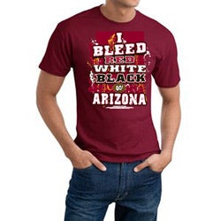 Men's Arizona Cardinals Football 'I Bleed Red, White, & Black' Cotton Tee