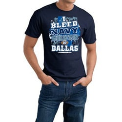 Dallas Football 'I Bleed Navy & Silver' Navy Tee