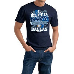 Men's Dallas Cowboys Football 'I Bleed Navy & Silver' Cotton Tee