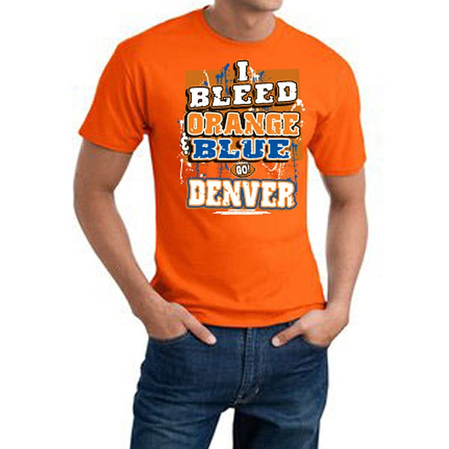 Denver Football 'I Bleed Orange & Blue' Orange Tee