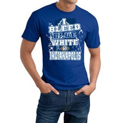 Men's Indianapolis Colts Football 'I Bleed Blue & White' Short-Sleeved Cotton Tee