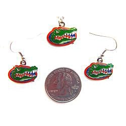 Florida Gators Necklace and Dangle Earring Charm Set