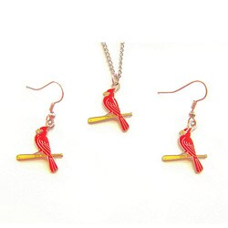 St. Louis Cardinals Necklace and Dangle Earring Charm Set
