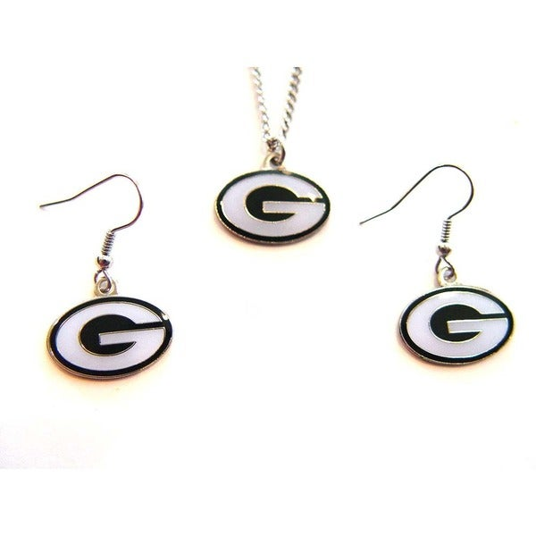 Green Bay Packers Necklace and Dangle Earring Charm Set 8326806