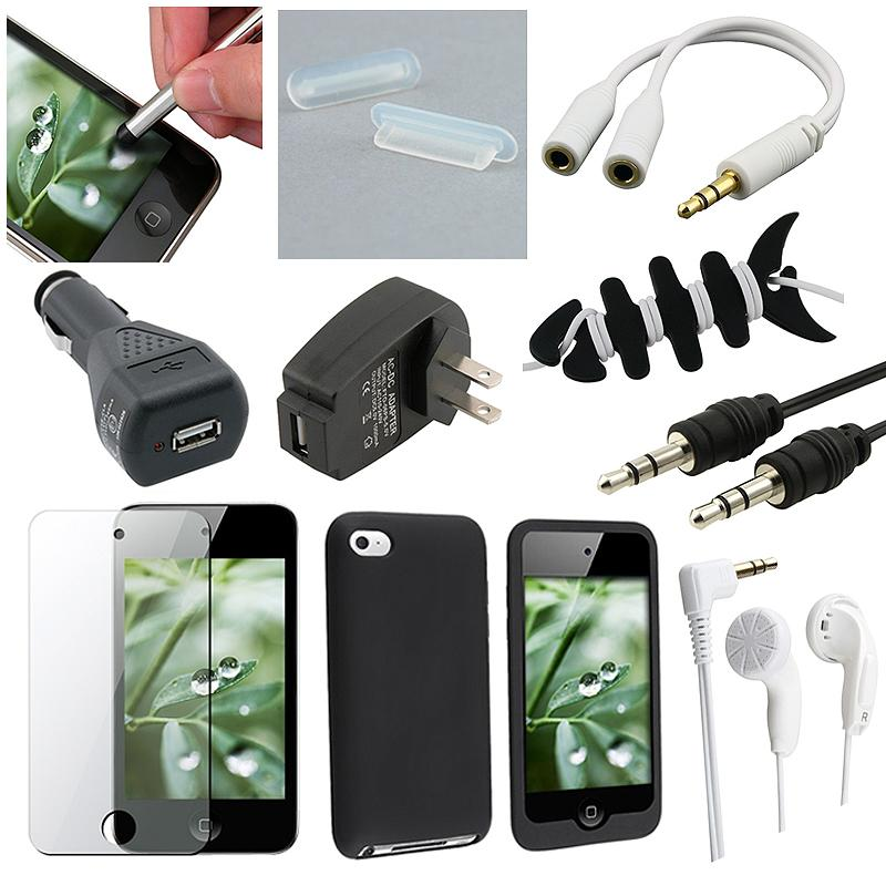 Case/ Screen Protector/ Charger/ Cable Set for Apple iPod touch Gen 4