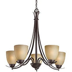 Woodbridge Lighting Kearney 5-light Mahagony Bronze Chandelier