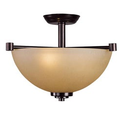 Woodbridge Lighting Ajo 2-light Cordovan Semi Flush Mount
