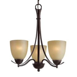 Woodbridge Lighting Kearney 3-light Mahagony Bronze Chandelier