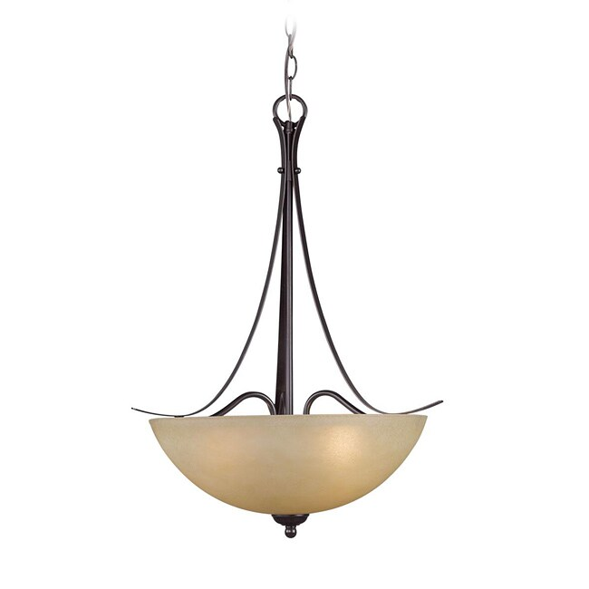 Woodbridge Lighting Kearney 3-light Mahagony Bronze Pendant