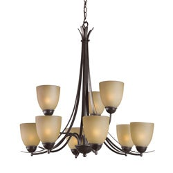 Woodbridge Lighting Kearney 9-light Mahagony Bronze Chandelier