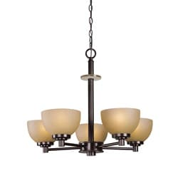 Woodbridge Lighting Ajo 5-light Cordovan Chandelier
