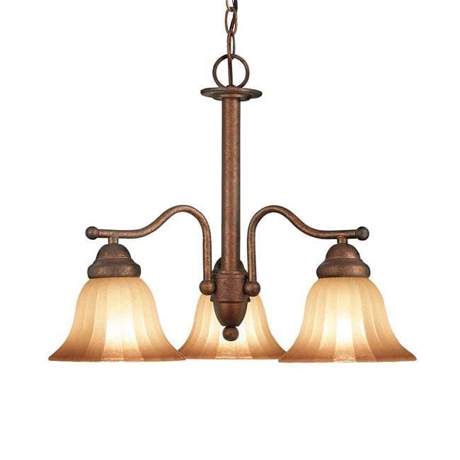 Woodbridge Lighting Morgan Park 3-light Marbled Bronze Chandelier