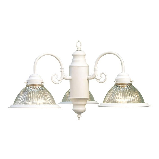 Woodbridge Lighting Basic 3-light White Chandelier