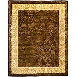 Safavieh Handmade Majestic Chocolate/Gold New Zealand Wool Rug (7'6 x 9'6)