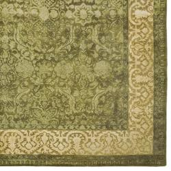 Safavieh Handmade Majestic Green/ Ivory N. Z. Wool Rug (7'6 x 9'6)