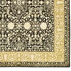Safavieh Handmade Silk Road Majestic Black N.Z. Wool Rug (9'6 x 13'6)