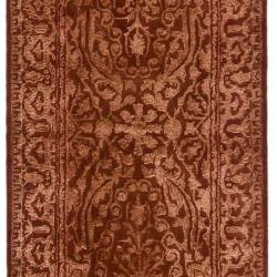 Handmade Silk Road Majestic Rust New Zealand Wool Rug (2'6 x 8')