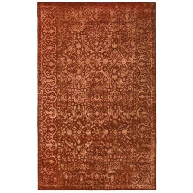 Safavieh Handmade Silk Road Majestic Rust New Zealand Wool Rug (4' x 6')