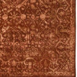 Safavieh Handmade Silk Road Majestic Rust New Zealand Wool Rug (4' x 6')