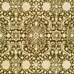 Handmade Silk Road Majestic Brown N.Z. Wool Rug (9'6 x 13'6)