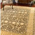 Handmade Majestic Brown/ Ivory N. Z. Wool Area Rug (7'6 x 9'6)