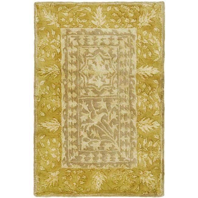 Safavieh Handmade Majestic Beige/ Light Gold N. Z. Wool Rug (2' x 3')