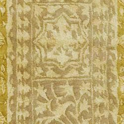 Handmade Majestic Beige/ Light Gold N. Z. Wool Rug (2' x 3')
