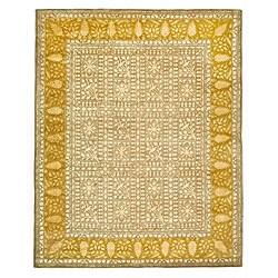 Safavieh Handmade Majestic Beige/ Light Gold N. Z. Wool Rug (7'6 x 9'6)