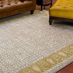 Safavieh Handmade Majestic Beige/ Light Gold N. Z. Wool Rug (8'3 x 11')
