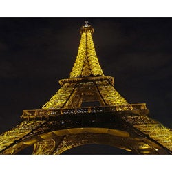 "Stewart Parr ""Paris, France - Eiffel Tower at night"" Unframed Contemporary Photo Print"