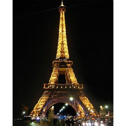 Stewart Parr 'Paris - Eiffel Tower - night color' Unframed Photo Print