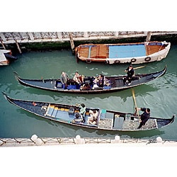 Stewart Parr 'Venice, Italy - gondolas on canal' Unframed Photo Print