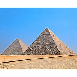 Contemporary Stewart Parr 'Cairo, Egypt - Giza Pyramids' Unframed Photo Print