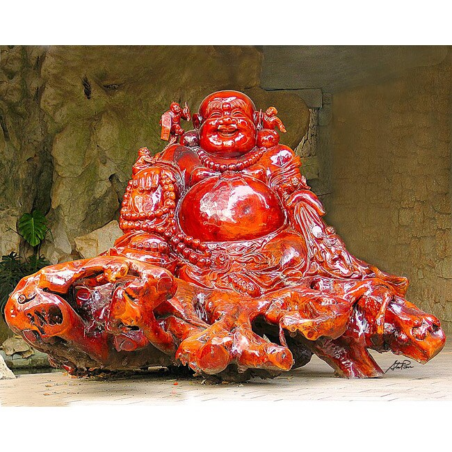 Stewart Parr 'Guilin China - Red Buddha Rock Carving' Unframed Photo Print