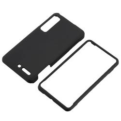 Black Rubber Coated Case for Motorola Droid 3 XT862