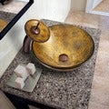 Vigo Copper Shapes Vessel Sink and Waterfall Faucet