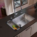 Vigo Farmhouse Stainless Steel Kitchen Sink/ Faucet/ Colander/ Strainer/ Dispenser