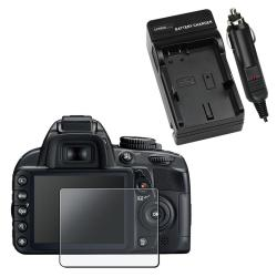 Battery Charger/ Anti-glare Screen Protector for Nikon D3100