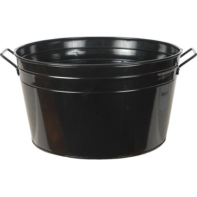 Shiny Black Metal Beverage Tub