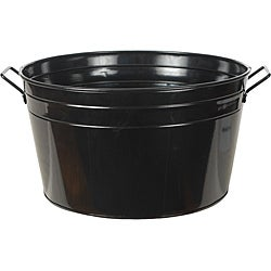 Shiny Black Metal Beverage Tub
