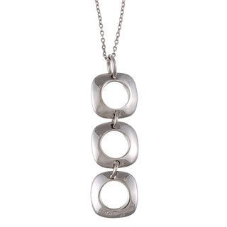 La Preciosa Sterling Silver Square Link Necklace