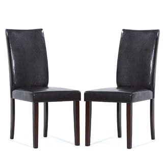 Warehouse of Tiffany Shino Brown Faux Leather Dining Chairs (Set of 4)