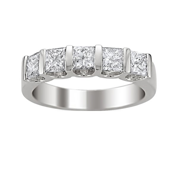 14k Gold 1 1/2ct TDW Princess-cut Diamond Band (H-I, I1-I2)