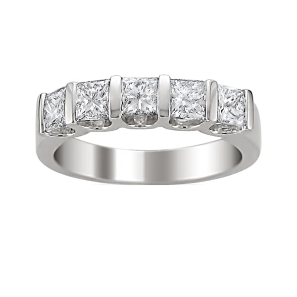 Montebello 14k Gold 1 1/2ct TDW Princess-cut Diamond Band (H-I, I1-I2)