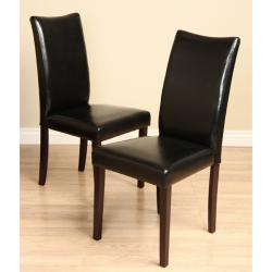 Warehouse of Tiffany Faux Leather Shino Black Dining Chairs (Set of 8)