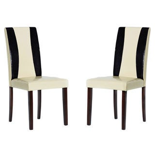 Tiffany Savana Faux Leather Chairs (Set of 4)