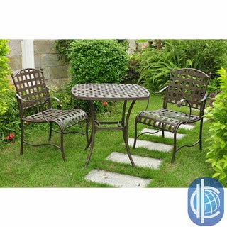 International Caravan Santa Fe Nailhead Iron Bistro 3-piece Dining Set