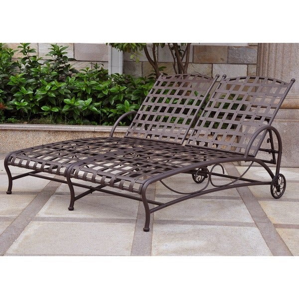 International Caravan Santa Fe Nailhead Double Multi-position Chaise Lounge